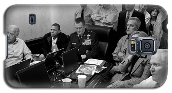 Barack Obama Galaxy S5 Case - Obama In White House Situation Room by War Is Hell Store