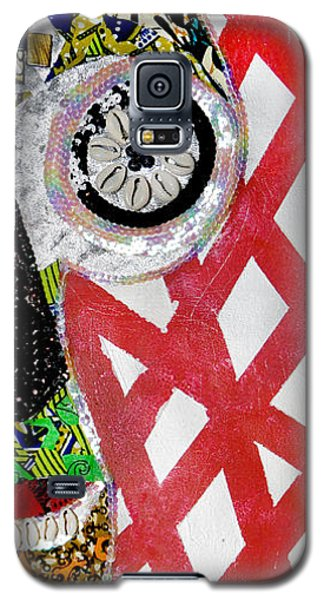 Galaxy S5 Case featuring the tapestry - textile Obaoya by Apanaki Temitayo M