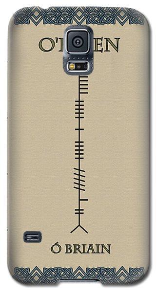 Galaxy S5 Case featuring the digital art O'brien Written In Ogham by Ireland Calling