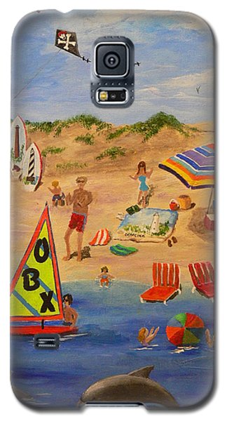 Galaxy S5 Case featuring the painting Obx Beach by Catherine Hamill