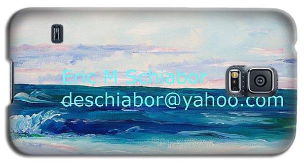 Galaxy S5 Case featuring the painting Ocean Assateague Virginia by Eric  Schiabor