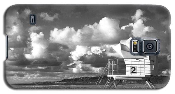 Galaxy S5 Case featuring the photograph Ocean Beach Lifeguard Tower by Nathan Rupert