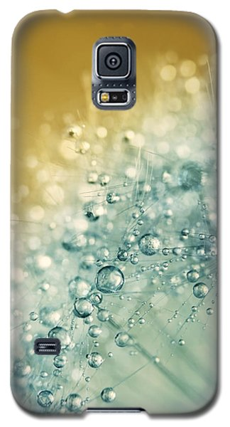 Galaxy S5 Case featuring the photograph Ocean Blue Dandy Sparkles by Sharon Johnstone