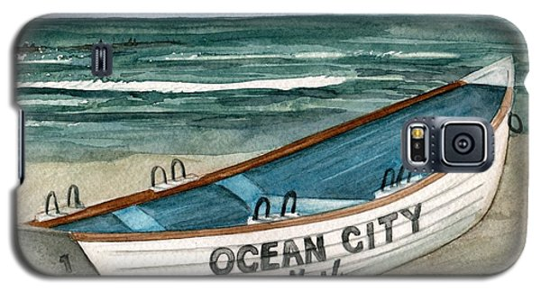 Ocean City Lifeguard Boat 2  Galaxy S5 Case by Nancy Patterson