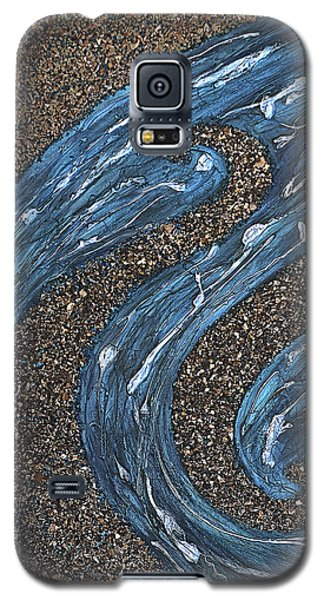 Galaxy S5 Case featuring the painting Ocean Dance by Shabnam Nassir