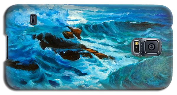 Galaxy S5 Case featuring the painting Ocean Deep by Jenny Lee