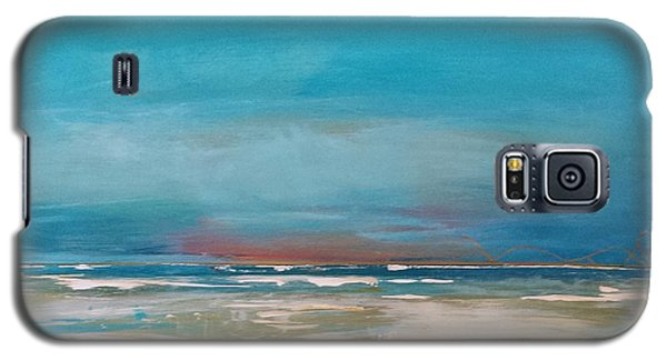 Galaxy S5 Case featuring the painting Ocean by Diana Bursztein