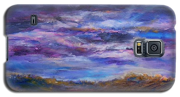 Galaxy S5 Case featuring the painting Nightlight by Mary Schiros