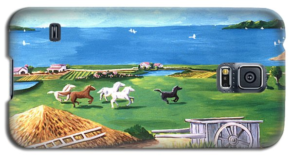 Galaxy S5 Case featuring the painting Ocean Ranch by Lance Headlee