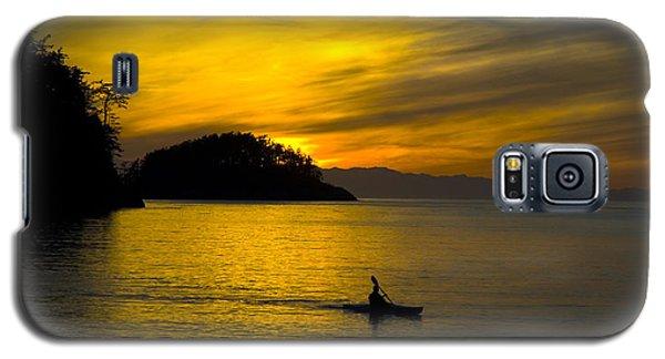 Ocean Sunset At Rosario Strait Galaxy S5 Case by Yulia Kazansky