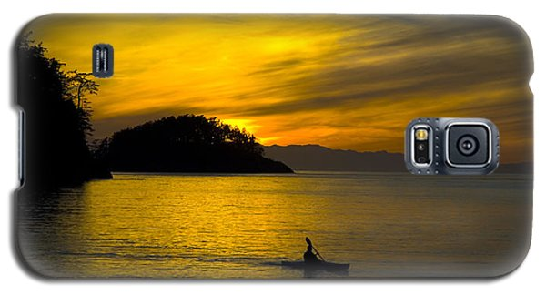 Galaxy S5 Case featuring the photograph Ocean Sunset At Rosario Strait by Yulia Kazansky