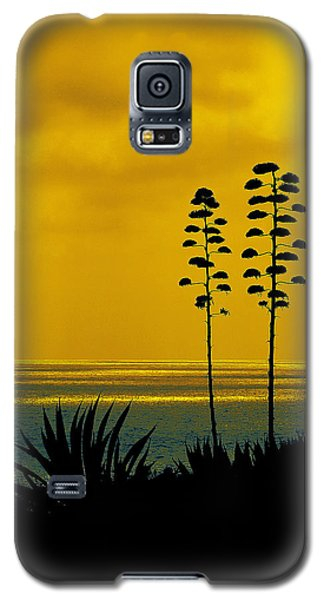 Ocean Sunset With Agave Silhouette Galaxy S5 Case