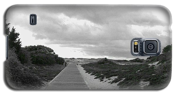 Galaxy S5 Case featuring the photograph Ocean Walk Island Beach State Park New Jersey by Pamela Hyde Wilson