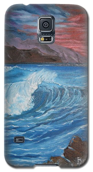 Galaxy S5 Case featuring the painting Ocean Wave by Jenny Lee