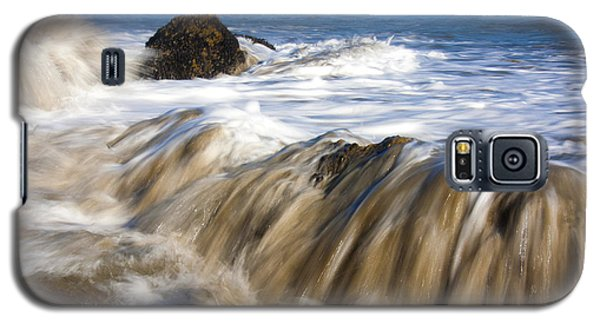 Ocean Waves Breaking Over The Rocks Photography Galaxy S5 Case