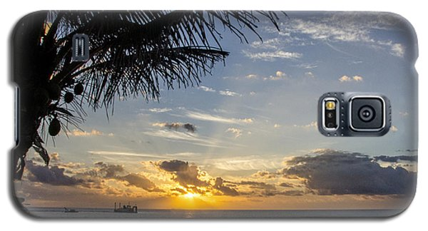 Oceanfront Park Sunrise 1 Galaxy S5 Case