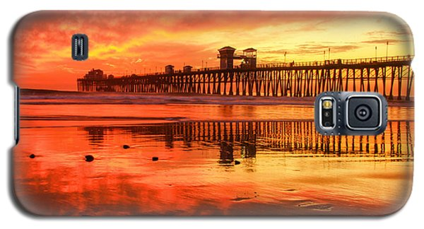 Galaxy S5 Case featuring the photograph Oceanside Fire by Robert  Aycock