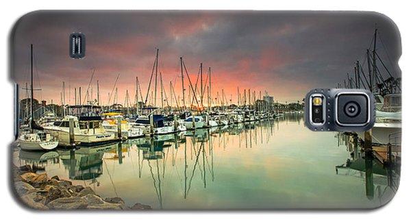 Oceanside Harbor Sunrise Galaxy S5 Case by Robert  Aycock