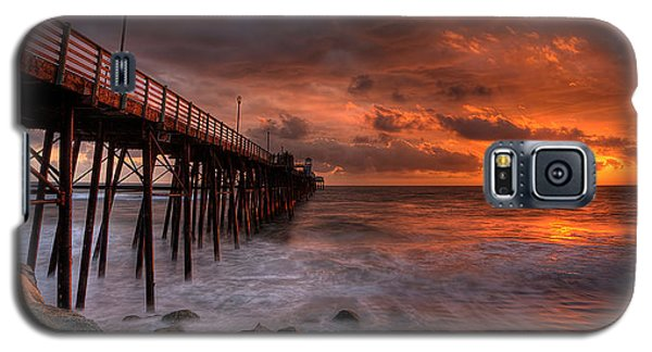 Oceanside Pier Perfect Sunset -ex-lrg Wide Screen Galaxy S5 Case