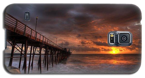 Oceanside Pier Perfect Sunset Galaxy S5 Case