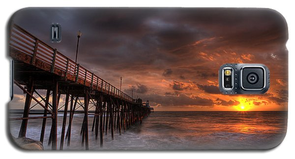 Rocky Galaxy S5 Case - Oceanside Pier Perfect Sunset by Peter Tellone