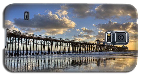 Oceanside Pier Sunset Reflection Galaxy S5 Case