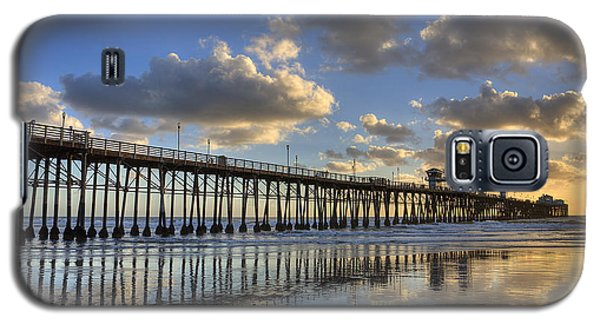 Oceanside Pier Sunset Reflection Galaxy S5 Case