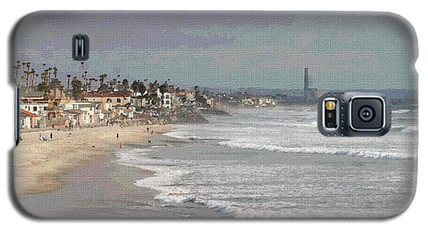 Galaxy S5 Case featuring the photograph Oceanside South Of Pier by Tom Janca