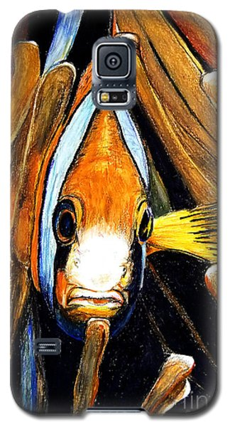 Galaxy S5 Case featuring the drawing Ocellaris Clownfish by Daniel Janda