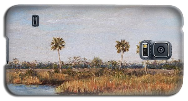 Galaxy S5 Case featuring the painting Ochlockonee River Palms by Pam Talley