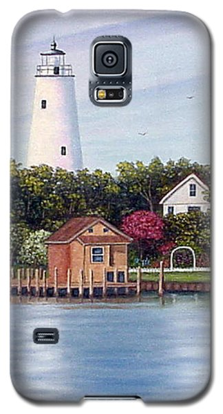 Galaxy S5 Case featuring the painting Ocracoke Island Light by Fran Brooks