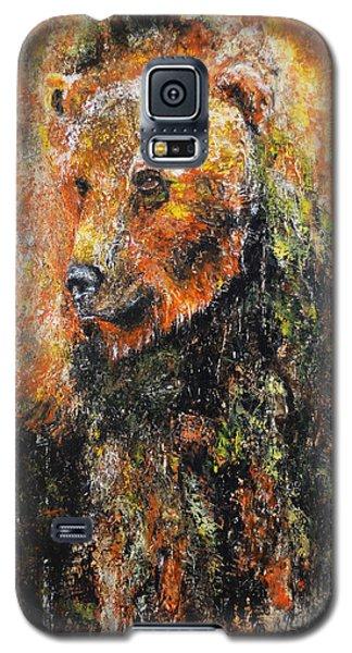 Abstract Bear Painting October Bear Galaxy S5 Case by Jennifer Godshalk