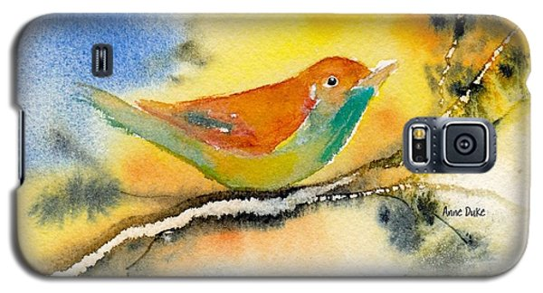 Galaxy S5 Case featuring the painting October Fourth by Anne Duke