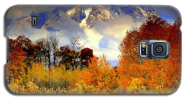 Galaxy S5 Case featuring the photograph October In Grand Tetons by Irina Hays