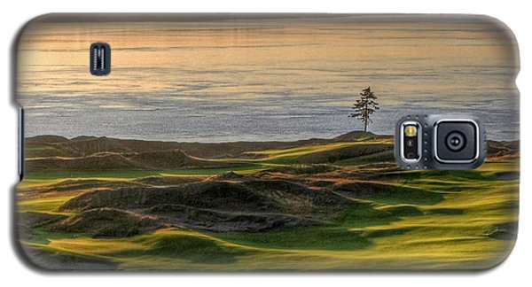 Galaxy S5 Case featuring the photograph October Solitude - Chambers Bay Golf Course by Chris Anderson