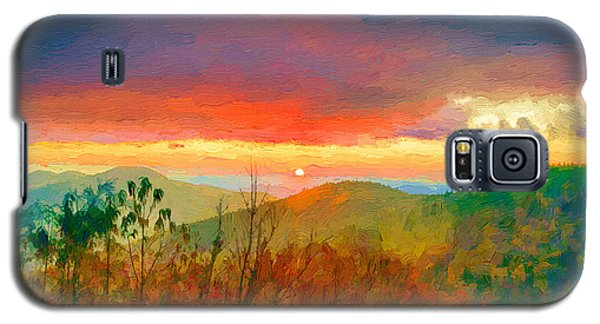 October Sunrise Painting On The Blue Ridge Parkway Galaxy S5 Case
