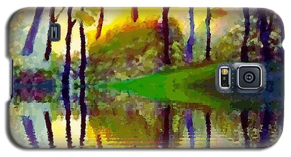 Galaxy S5 Case featuring the painting October Surprise by Holly Martinson
