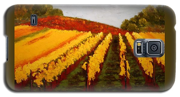 Galaxy S5 Case featuring the painting October Vineyard by Nancy Jolley
