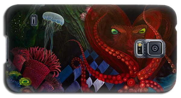 Octopus Heart Galaxy S5 Case