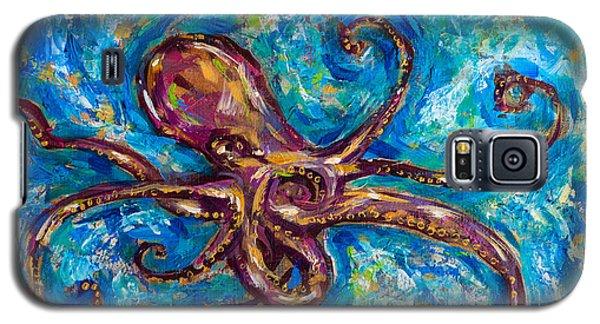 Octopus Salsa Galaxy S5 Case by Linda Olsen