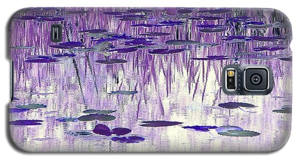 Galaxy S5 Case featuring the photograph Ode To Monet In Purple by Chris Anderson
