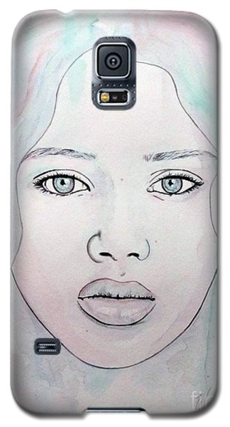 Galaxy S5 Case featuring the mixed media Of Colour And Beauty - Blue by Malinda Prudhomme