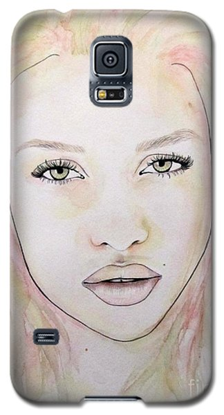 Galaxy S5 Case featuring the mixed media Of Colour And Beauty - Pink by Malinda Prudhomme