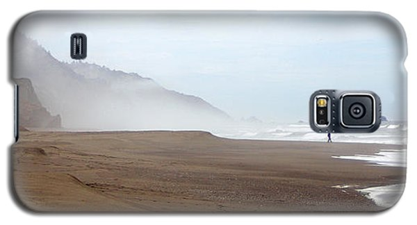 Galaxy S5 Case featuring the photograph Of Solitude And Sand by Thomas Bomstad