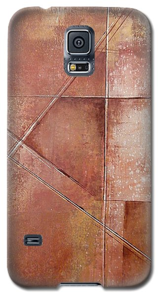 Galaxy S5 Case featuring the painting Off On A Tangent by Buck Buchheister