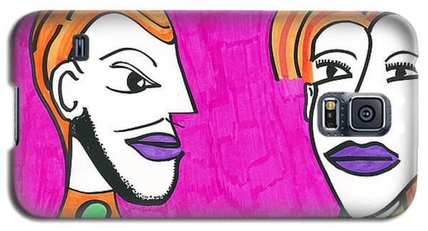 Galaxy S5 Case featuring the drawing Office Date by Don Koester