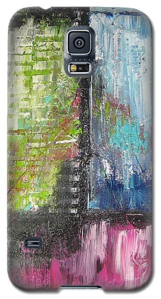 Galaxy S5 Case featuring the painting Office Window by Lucy Matta