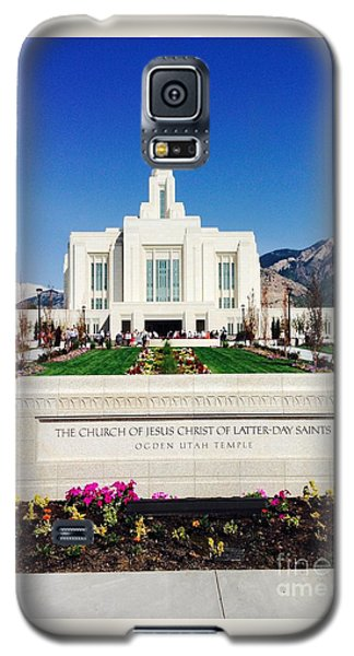 Galaxy S5 Case featuring the photograph Ogden Temple 1 by Richard W Linford