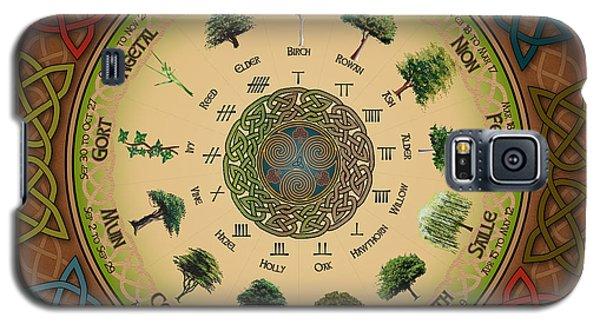 Ogham Tree Calendar Galaxy S5 Case by Ireland Calling