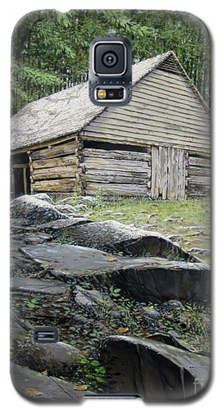 Galaxy S5 Case featuring the painting Ogle Barn by Bob  George